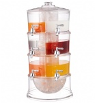 3 Tier Beverage Dispenser,Table Top Beverage Tower,Plastic Beverage Dispenser